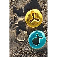 """Волшебные формочки ванны и пляжа """"STAR FISH""""  Quut цвет зеленый+желтый"""