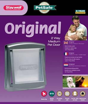 Дверцы Staywell для котов и собак средних пород, цвет серый, 352х294 мм