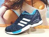 Мужcкие кроссовки Adidas ZX Flux сине-голубые 44 р.