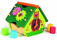 Oops Деревянный домик с часами зеленый (00377)