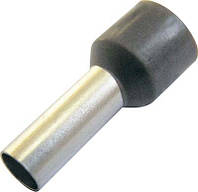 Изолированный кабельный наконечник, втулочный, 2,5 мм2, красный, 100 шт.