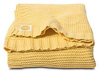 Вязаный плед Jollein 100х150см Chunky knit, Желтый