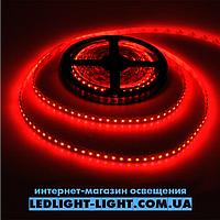 """Светодиодная лента """"LC"""" 12 V 120 диодов/метр 9.6W красный, без силикона"""