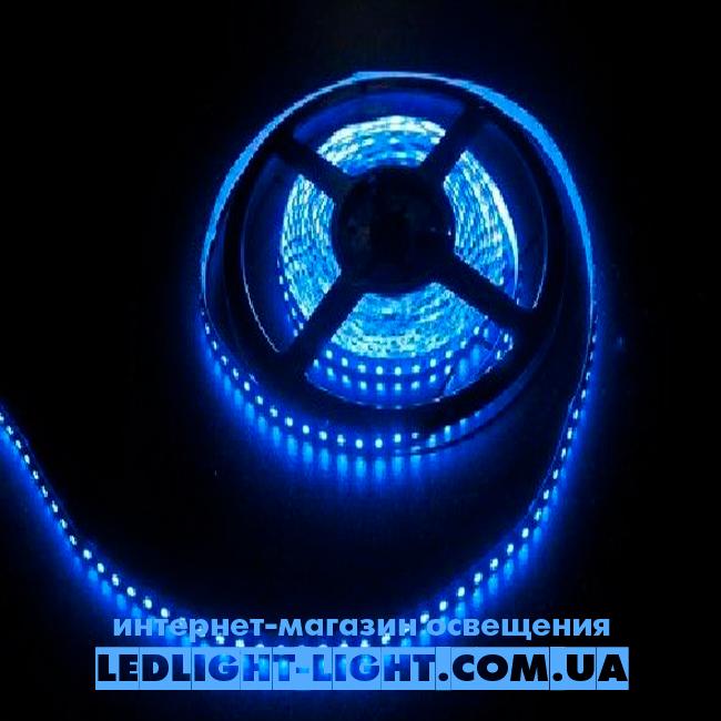 """Світлодіодна стрічка """"LC"""" 12 V 120 діодів/метр 9.6 W синій, без силікону"""