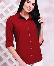 Женская классическая блузка-рубашка (1710 mrs), фото 2