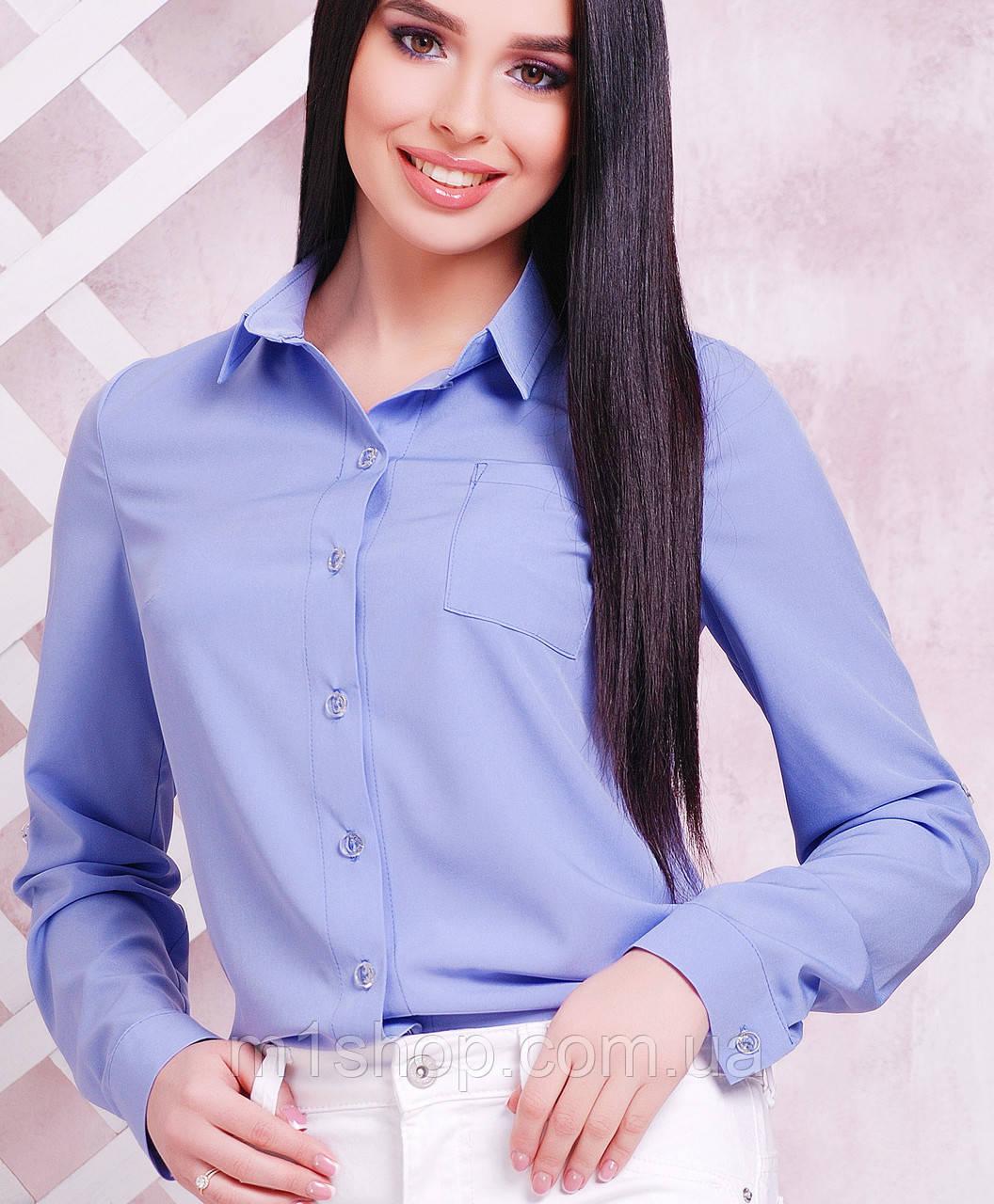 Женская классическая блузка-рубашка (1710 mrs)
