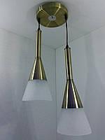 Люстра потолочная подвесная на 2 лампочки 11066/2 Бронза 50х20х35 см.