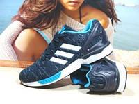 Кроссовки мужские Adidas ZX Flux (реплика) сине-голубые 43 р., фото 1