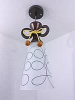 Люстра потолочная подвесная на 1 лампочку 9335/1 Коричневый 42х15х15 см.