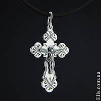 Серебряный крест нательный крестик