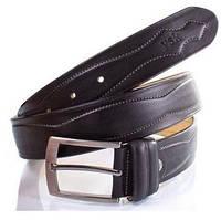 Мужской кожаный ремень для брюк Ysk 3,5 см, черный