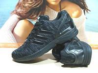 Мужские кроссовки Adidas ZX Flux черные 45 р.