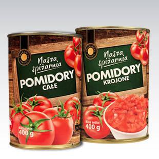 Консервированные помидоры Pomidory krojone 400г, фото 2