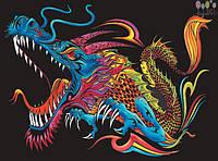Раскраска с фломастерами Colorvelvet Carioca Дракон  (L0086)
