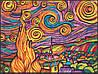 Раскраска с фломастерами Colorvelvet Carioca Звёздная  ночь (Ван Гог)