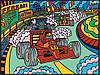 Раскраска с фломастерами Colorvelvet Carioca Формула  1