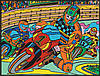 Раскраска с фломастерами Colorvelvet Carioca Мотоцикл  (M0002)