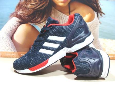 Кроссовки мужские Adidas ZX Flux (реплика) сине-красные 43 р.