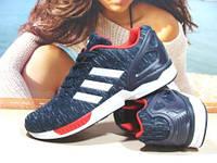Кроссовки мужские Adidas ZX Flux (реплика) сине-красные 43 р., фото 1