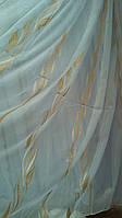 Тюль из полуорганз с вертикальным узором JA-239 (L)