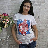 """Футболка женская из коттона, """"Keppa"""", Турция. Женские турецкие модные  футболки  из лопка, фото 1"""