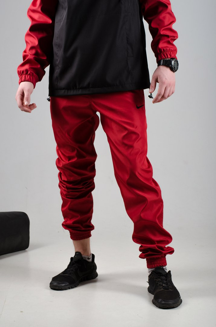 Мужские спортивные штаны Nike красные реплика