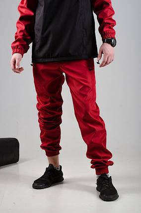Мужские спортивные штаны Nike красные реплика, фото 2