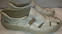 Сандалии мужские кожаные р49 BIG BOSS 1c бежевые