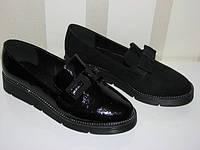 Женские замшевые туфли черные спереди бантик 36 37 38 39 40 41