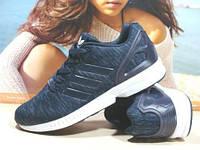 Мужские кроссовки Adidas ZX Flux синие 44 р., фото 1