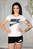 Женский спортивный костюм шорты+майка Nike. Материал хлопок. Размер: 42,44,46.