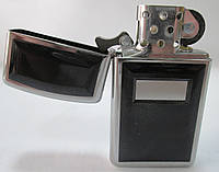 Зажигалка ZIPPO (16550) чёрная с хромом, глянцевая, фото 1