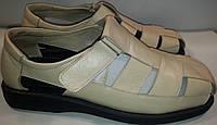 Сандалии мужские кожаные р47-49 BIG BOSS 1c бежевые