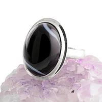 Оникс, серебро 925, кольцо, 390КО