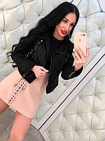 Женская куртка в байкер стиле