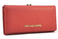 Кожаный кошелек Michael Kors 516 (red)