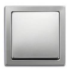 Выключатель одноклавишный + рамка. ABB Steel