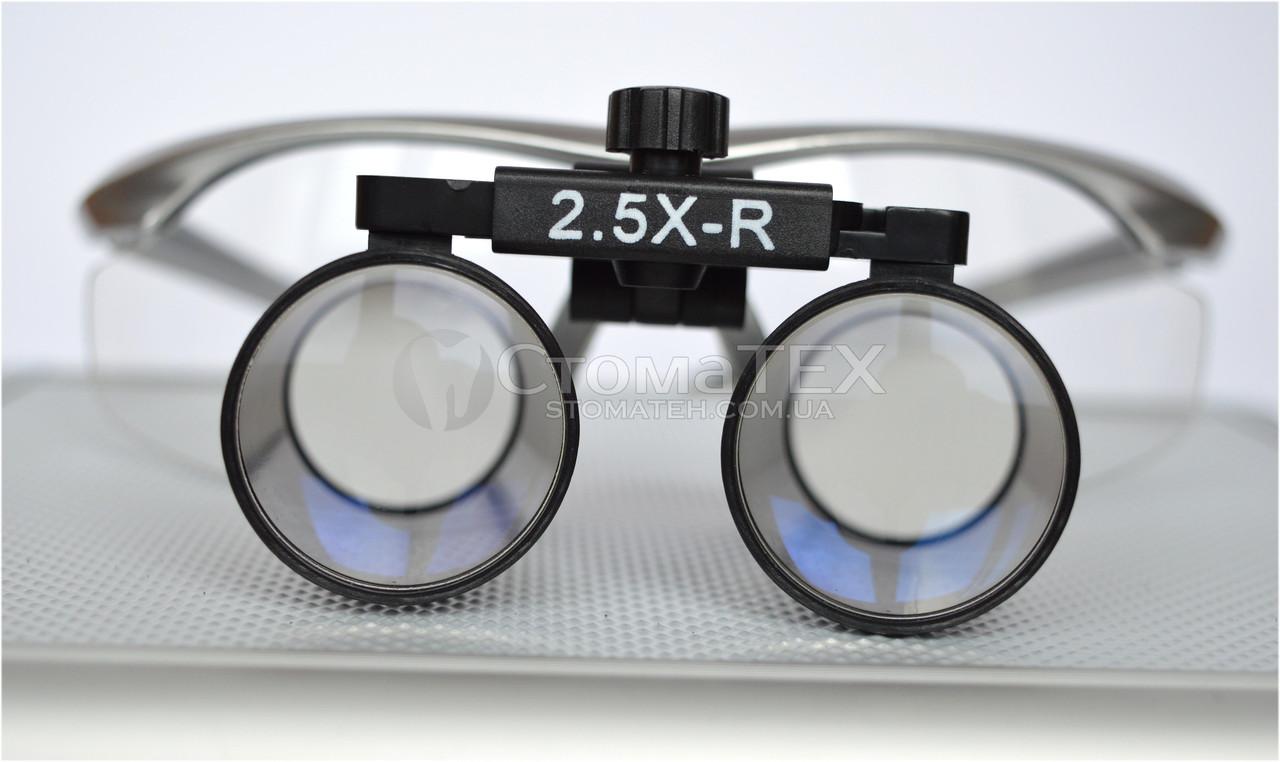 Бинокуляры B1 (2.5х-R) Silver