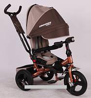 Трехколесный велосипед-коляска Azimut Crosser T-400 EVA бронзовый