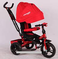 Трехколесный велосипед-коляска Azimut Crosser T-400 EVA красный