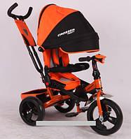 Трехколесный велосипед-коляска Azimut Crosser T-400 EVA оранжевый