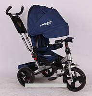 Трехколесный велосипед-коляска Azimut Crosser T-400 EVA синий