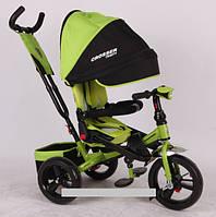 Трехколесный велосипед-коляска Azimut Crosser T-400 EVA зеленый