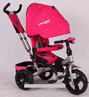 Трехколесный велосипед-коляска Azimut Crosser T-400 EVA розовый