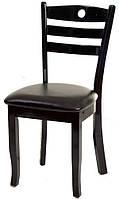 Стул деревянный NB-33 черный, сиденье искусственная кожа черного цвета, для дома, HoReCa, офиса
