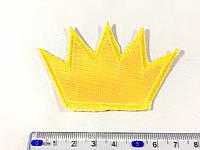 Нашивка корона клеевая основа светоотражающая цвет желтый