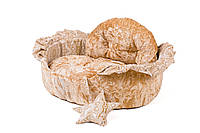 """Лежак для животных """"БОЛЕРО"""" №2, 55х44х17см, коричневый/крем"""