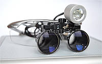 Комплект бинокуляры 2.5x-R + подсветка, silver, фото 1