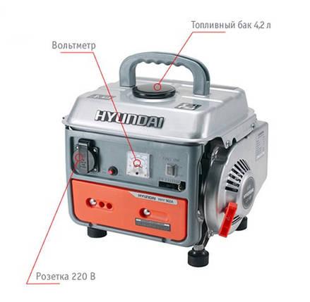 "Генератор HYUNDAI  ""HHY 960A""  мощностью 0,75кВт, фото 2"