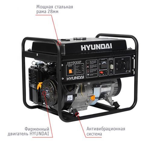 """Генератор HYUNDAI  """"HHY 5000F""""  мощностью 4кВТ"""